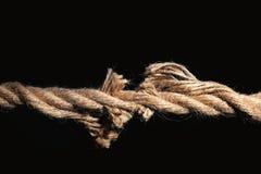 Rottura della corda del cotone immagine stock