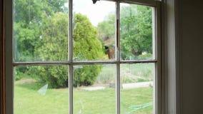 Rottura della finestra di vetro della lastra di vetro archivi video