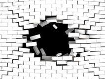 Rottura della priorità bassa della parete Fotografia Stock