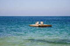 Rottura della spiaggia Fotografie Stock