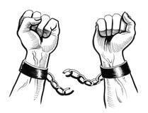 Rottura delle catene Immagini Stock Libere da Diritti