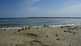 Rottura delle onde del mare sulla spiaggia archivi video