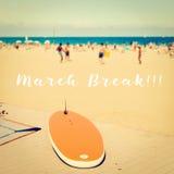 Rottura di marzo sulla spiaggia Fotografia Stock