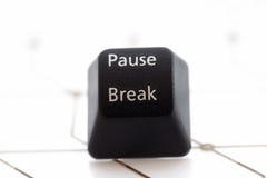 Rottura di pausa del bottone Fotografia Stock