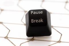 Rottura di pausa del bottone Fotografia Stock Libera da Diritti