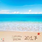 Rottura di primavera 2017 sulla sabbia Immagini Stock Libere da Diritti