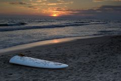 Rottura di sogni al tramonto Fotografia Stock