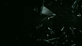 Rottura di vetro dell'alfa canale video d archivio