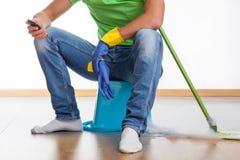 Rottura a lavoro domestico Fotografia Stock Libera da Diritti