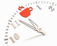 Rottura, orologio Fotografia Stock