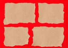 Rotture del documento di Brown fotografia stock libera da diritti