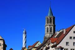 Rottweil Duitsland - 09 27 2018: Rottweil is een stad Duitsland, met stock afbeeldingen