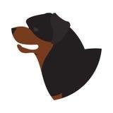 Rottweiler de la cabeza de perro Stock de ilustración