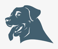 Rottweiler dog. Vector illustration of rottweiler dog Stock Illustration