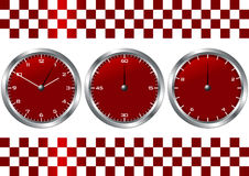 Rotuhren und -chronographen Stockfotos