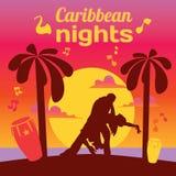 Rotulação colorida da salsa com confetes, palmas, música Imagens de Stock