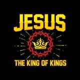 Rotulação da Bíblia Christian Art Jesus - rei dos reis ilustração do vetor