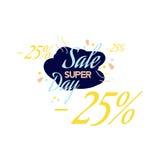 Rotulação da cor para o sinal da oferta da venda especial, até 25 por cento fora Ilustração lisa Eps 10 Foto de Stock