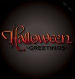 Rotulação da mão de Halloween Foto de Stock
