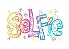 Rotulação da mão de Selfie Imagens de Stock Royalty Free