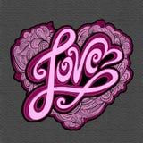 Rotulação da mão do amor ilustração stock