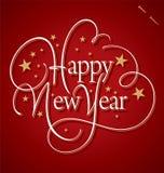 Rotulação da mão do ano novo feliz Imagem de Stock Royalty Free