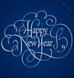 Rotulação da mão do ano novo feliz Imagem de Stock