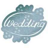 ROTULAÇÃO DA MÃO DO CASAMENTO Ilustração do vetor Convite do casamento ilustração stock