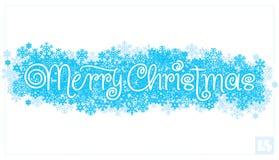 Rotulação da mão do Feliz Natal () Fotos de Stock Royalty Free