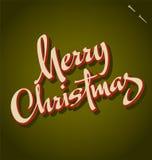 Rotulação da mão do Feliz Natal Imagem de Stock