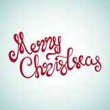 Rotulação da mão do Feliz Natal Fotos de Stock Royalty Free