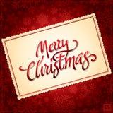 Rotulação da mão do Natal Imagens de Stock