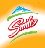 Rotulação da mão do sorriso Imagem de Stock Royalty Free