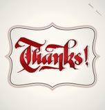 Rotulação da mão dos agradecimentos (vetor) Imagens de Stock