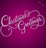 Rotulação da mão dos cumprimentos do Natal Foto de Stock Royalty Free