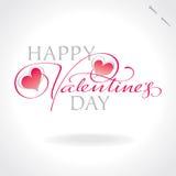 Rotulação da mão dos Valentim () Imagem de Stock Royalty Free