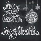 Rotulação da tipografia do Natal, elementos do cartão quadro ilustração do vetor