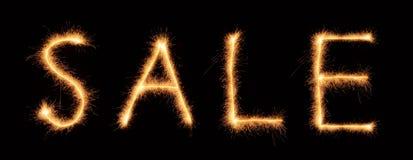 Rotulação da venda tirada com sparkles bengalis Fotografia de Stock