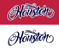 Rotulação de Houston no estilo da tatuagem Fotografia de Stock