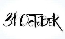 Rotulação de 31 Oktober para Dia das Bruxas Fotografia de Stock Royalty Free