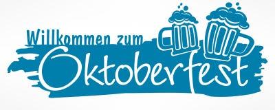 Rotulação de Oktoberfest ilustração do vetor