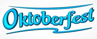 Rotulação de Oktoberfest no azul ilustração royalty free