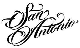 Rotulação de San Antonio no estilo da tatuagem Fotos de Stock