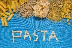 Rotulação do alimento da massa Imagem de Stock