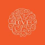 Rotulação do amor Imagem de Stock