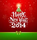 Rotulação 2014 do ano novo feliz Imagem de Stock Royalty Free