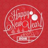 Rotulação do ano novo feliz Fotos de Stock Royalty Free