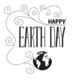 Rotulação do Dia da Terra Imagens de Stock Royalty Free