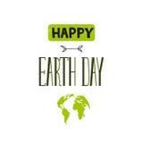 Rotulação do Dia da Terra Foto de Stock Royalty Free