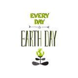 Rotulação do Dia da Terra Imagem de Stock